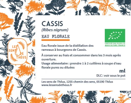 Eau florale Cassis Bio et Simples