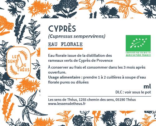 Eau florale Cyprès Bio et SIMPLES