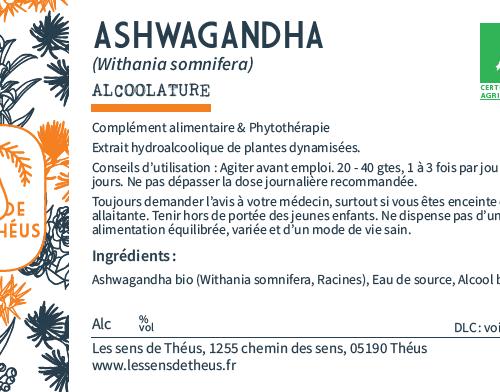 Ashwagandha Bio et Simples